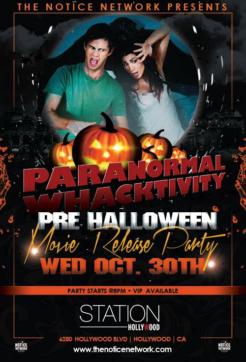 Paranormal Whacktivity Film Release Party
